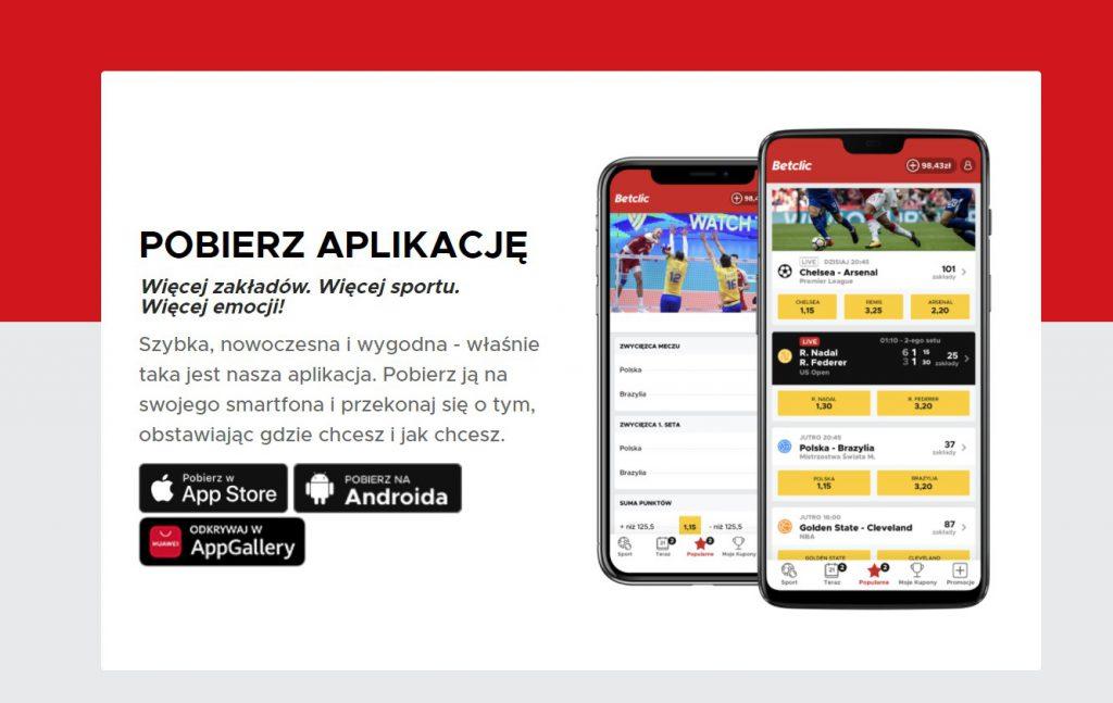 Betclic app, czyli bukmacher na telefonie
