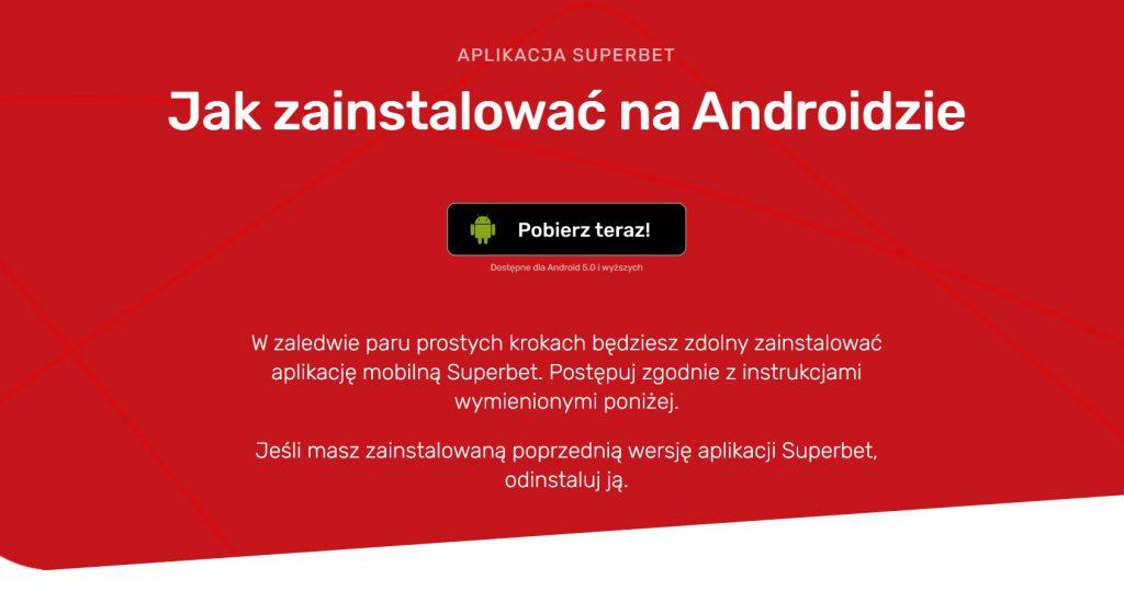 Superbet pobieranie na system Android