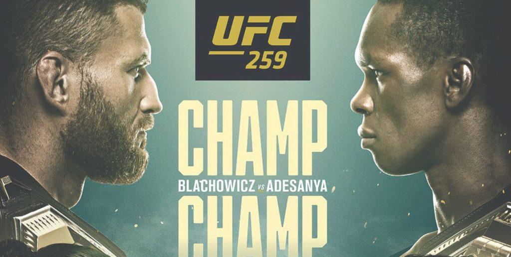 UFC 259 typy bukmacherskie. Błachowicz - Adesanya - kursy i bonusy